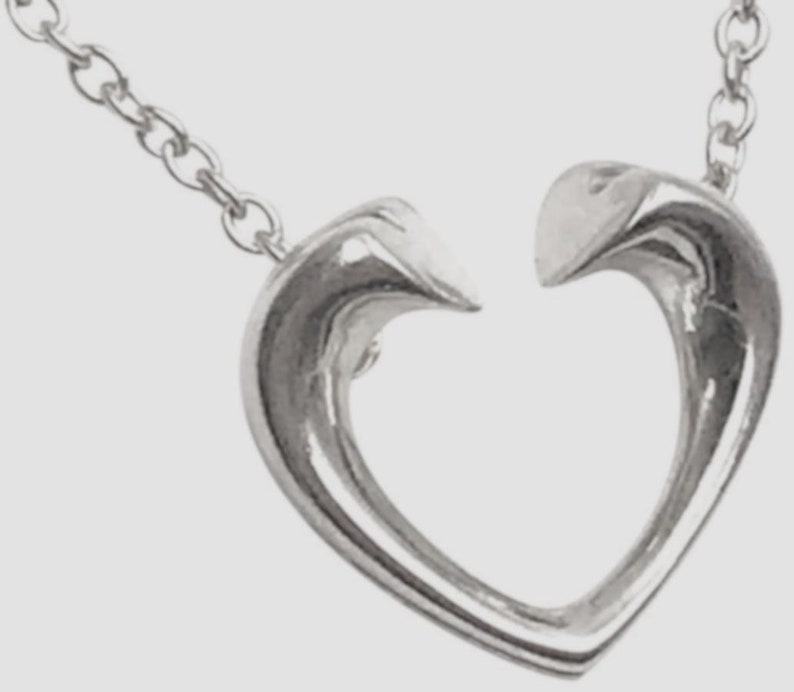 7ff33480f9e3 TIFFANY Paloma Picasso Tenderness Heart Sterling Silver Charm