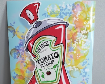 Limited Edition Spray Can Series - Ketchup - 8 x 10 art print