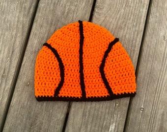 20071d961a5 Crochet basketball sports beanie hat