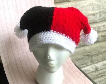 0e5557038e1 Crochet harley quinn joker super villain beanie hat