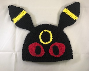76e91f9f42c Crochet pokemon umbreon eevee evolution beanie hat
