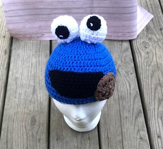 Crochet cookie monster beanie hat  0904b8daa41