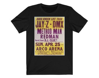 e725d41c Jayz Dmx Method Man Redman Dj Clue Hard Knock Life Tour Band Unisex Jersey  Short Sleeve Tee