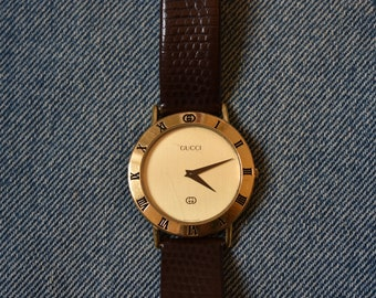 a409ecb1c67 Vintage Gucci 3000M Gold Plated Watch
