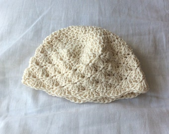 Crochet Baby Hat in Shell Stitch