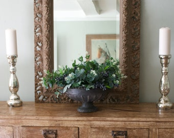 Beautiful carved wooden Hall/Wall Mirror, two tone, hand painted in Annie Sloan chalk paint