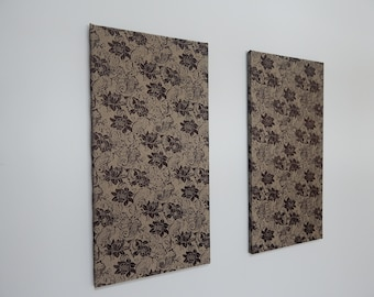Set of 2 Turkish Pure Silk Fabric Frames to complete the elegance of any room in your Home