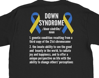 01fcbff8129a Down Syndrome Definition Short-Sleeve Unisex T-Shirt - Down Syndrome  Awareness Shirts Gift - Gift For Men/ Women/ Family
