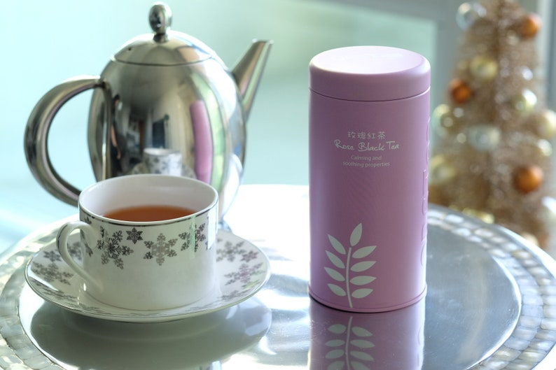 ROSE BLACK TEA, Rose, Oolong Tea, Thick Leaf, Highest Quality, Taiwan  Organic Agricultural Products (in Tin)