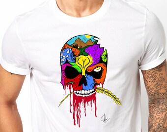 New Men/'s Dia De Muertos Skull Camo Raglan Sweatshirt Day Of The Dead Halloween