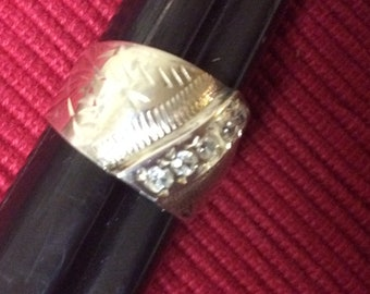 Vintage Soviet Silver Ring s.7.75