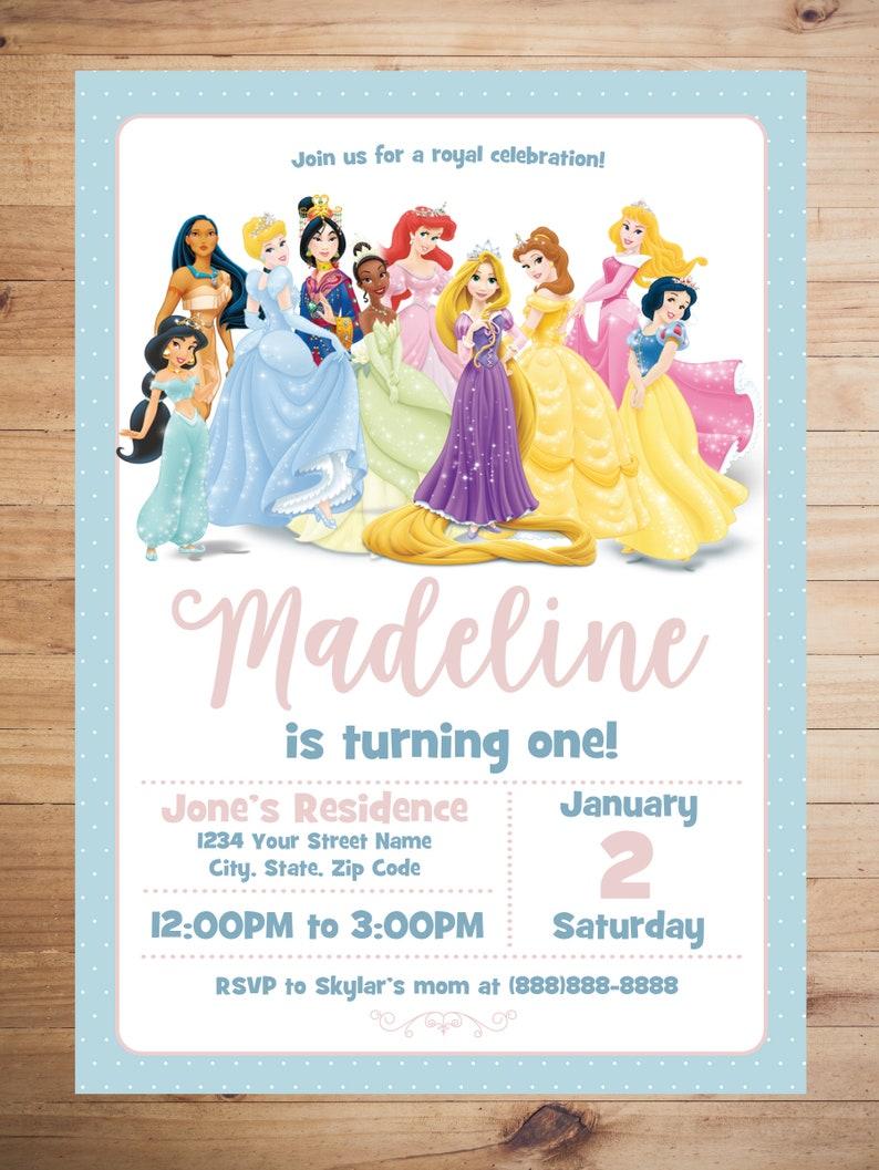 Disney Princess Invitation Party