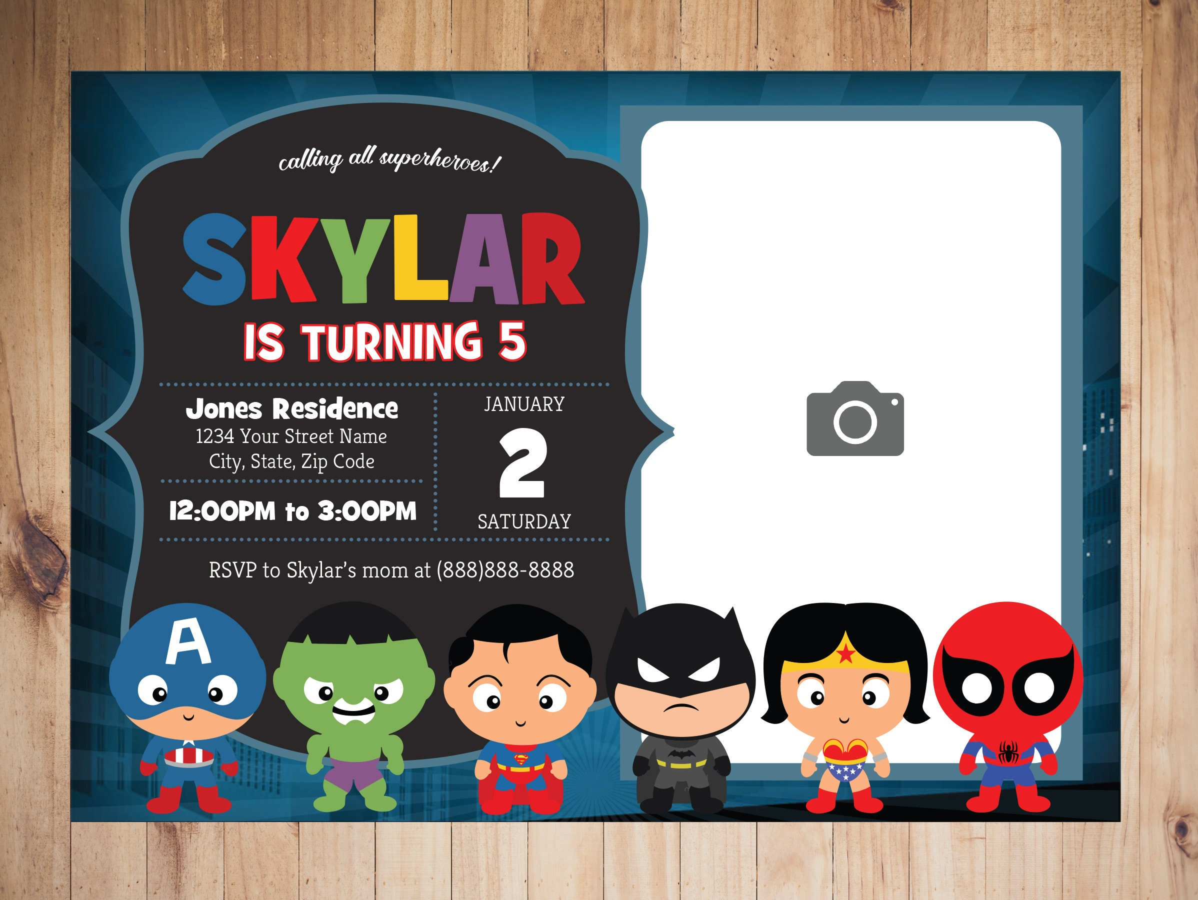 Superhero Invitation, Superhero Party, Superhero Birthday, Superhero  Decorations, Superhero Theme, Superhero Party Favors, Batman, Superman