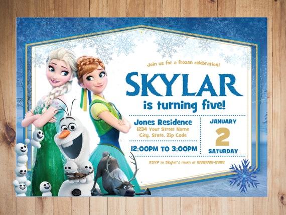 Frozen Birthday Invitation Frozen Party Disney Princess Birthday Frozen Decorations Frozen Theme Frozen Ideas Disney Theme Frozen
