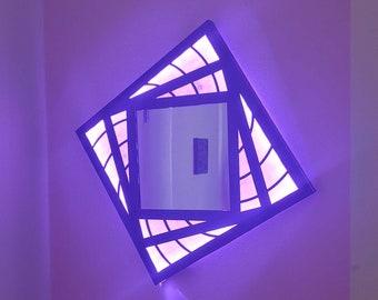 Spiral Fractal RGB LED Mirror