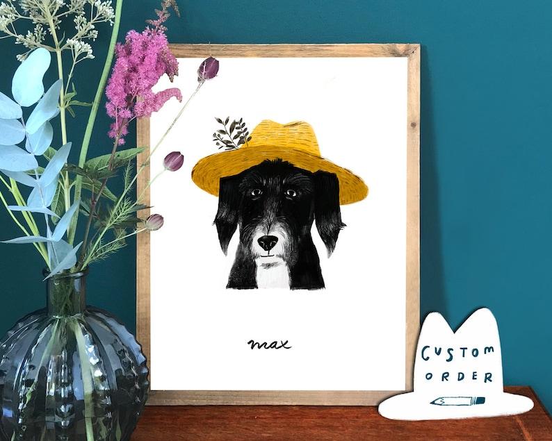 Cat Portrait Pet Portrait Custom Pet Portrait Portrait Dog Portrait DIGITAL pet portrait Unique Gift Customized Portrait