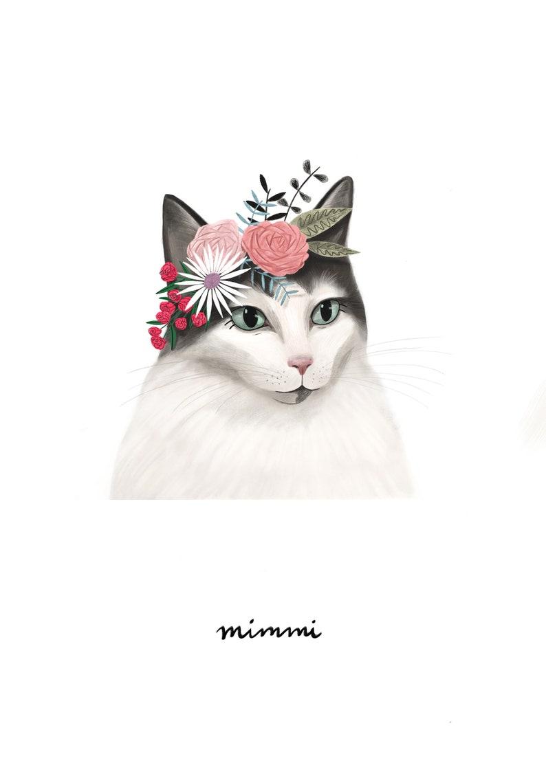 Pet Portrait Portrait DIGITAL pet portrait Dog Portrait Unique Gift Customized Portrait Custom Pet Portrait Cat Portrait