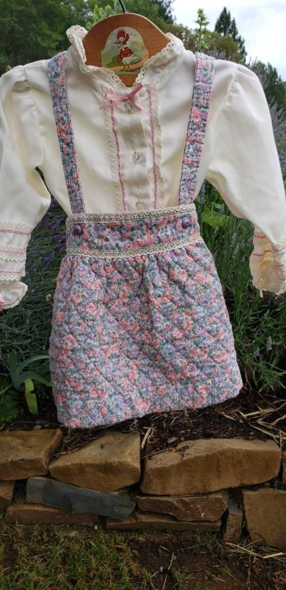 Vintage CARTER'S! Sweet floral and lace outfit, 2