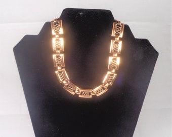 Renoir vintage copper necklace