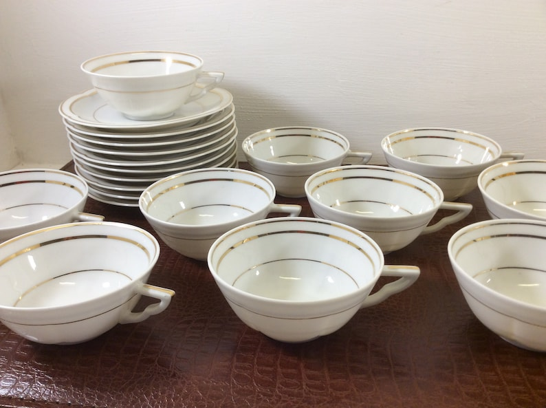 Feeding Nice Set Of 5 Stunning Vintage French Limoges Porcelain Egg Cups Firm In Structure