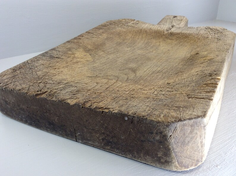 Antique Large /& Heavy 10 lb French Oak Cutting Board Primitive French Wooden Chopping Block Rustic Kitchen