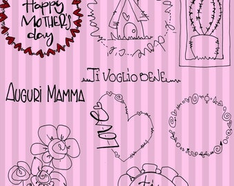 Mother's Day-digital stamp, digital images