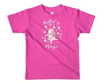 Unicorn Prima Ballerina, Ballet is Magic,watercolor,dancing girl,Unicorn Lovers  Birthday Gift Ballerina Short sleeve kids t-shirt