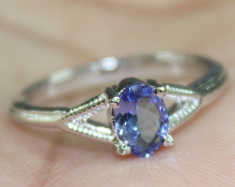 5X7 MM Oval Cut Natural Amethyst Gemstone Ring 925 Solid Sterling Silver All Size 3-15 Handmade Silver Ring