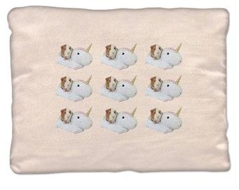 Unicorn Guinea Pig Decorative Pillow