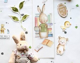 Cute Bunnies Bookmarks