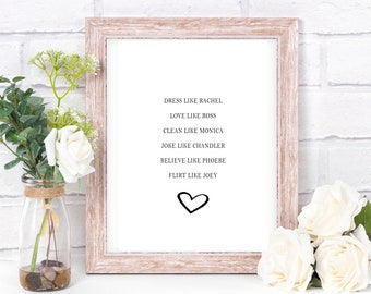 FRIENDS wall art // Quote // Print // Decor