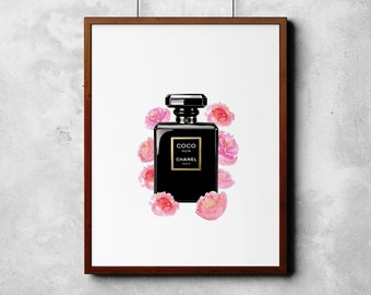 Coco Chanel Fashion Print // Home Decor // Wall ART
