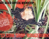 Microchip Metatrons Cube Wall Hanger, Crystal alter or Plant decoration- Perfect geek gift or to use on a craft project.