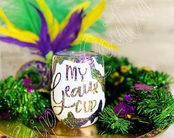 My Geaux Cup Mardi Gras Tumbler