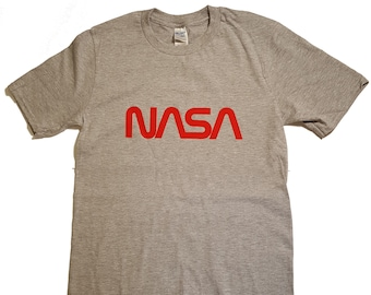 edfb87ecf NASA Worm Logo Men's Premium T Shirt Licensed (VP) …