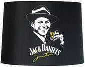 Frank Sinatra Jack Daniel 39 s Hand-painted Lamp Shade ,Lamp Wedding Gift. jack daniels lamp shade Mr Mrs.His and Hers ,