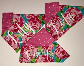 Personalized Dog Bandana | Reversible Pet Bandana | Dog Scarf | Cat Bandana | Over the Collar Bandana