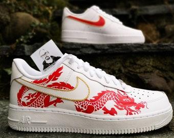 Custom sneakers Nike Air Force 1 'Dragon х Fire' | THE