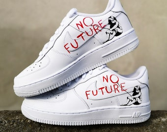 Custom sneakers Nike Air Force 1 Banksy | Etsy