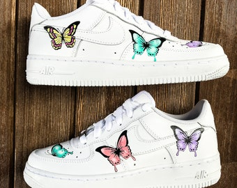 huge discount 4f6c9 df1c2 Custom sneakers Nike Air Force 1 Butterflies