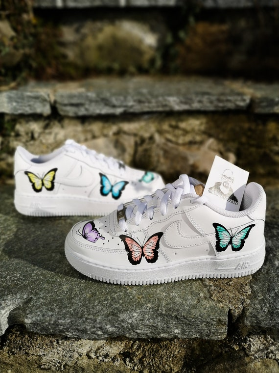 Custom sneakers Nike Air Force 1 ''Butterflies''