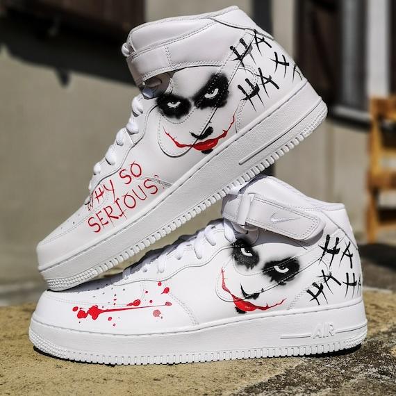 Custom Air Force 1 MID ''Joker'' | Etsy