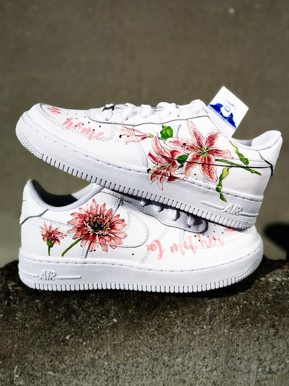 Aangepaste sneakers Nike Air Force 1 ' ' Harry Styles bloemen ' '