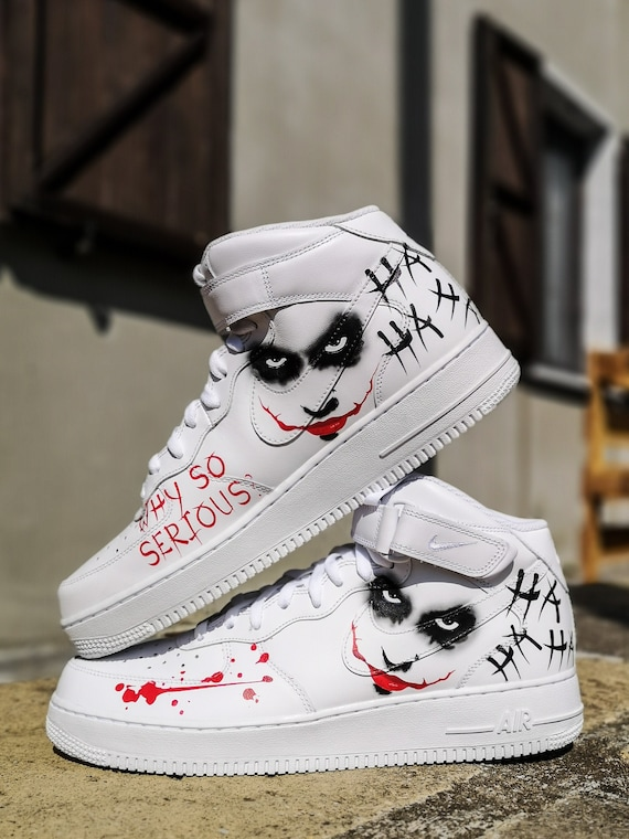 Custom Nike Air Force 1 MID ''Joker''
