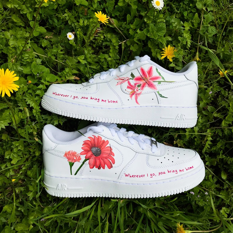 Styles Force Custom Sneakers 1 ''harry Air Nike Flowers'' TclKJuF31
