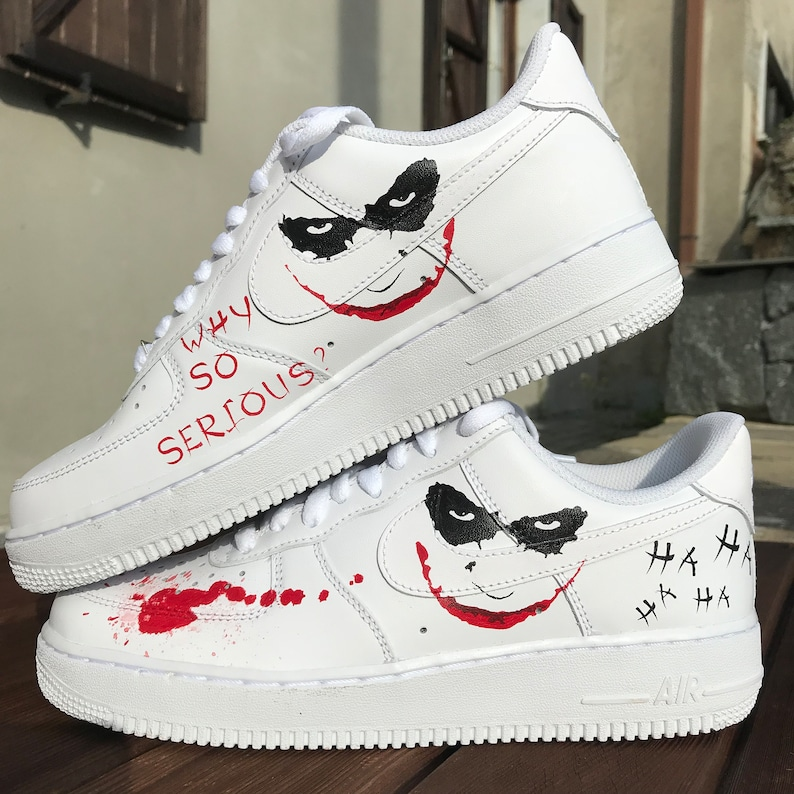 10f4cbd387e44 Custom sneakers Nike Air Force 1 Joker | Etsy