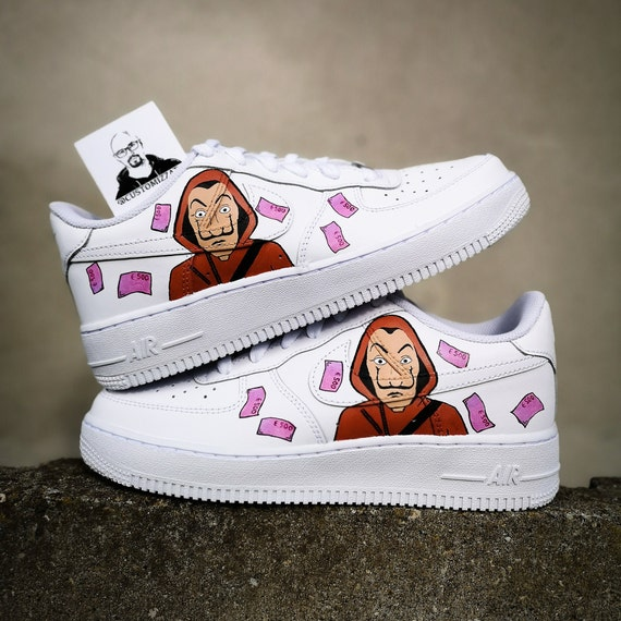 teoría Repeler pastor  Custom sneakers Nike Air Force 1 'La casa de papel' | Etsy