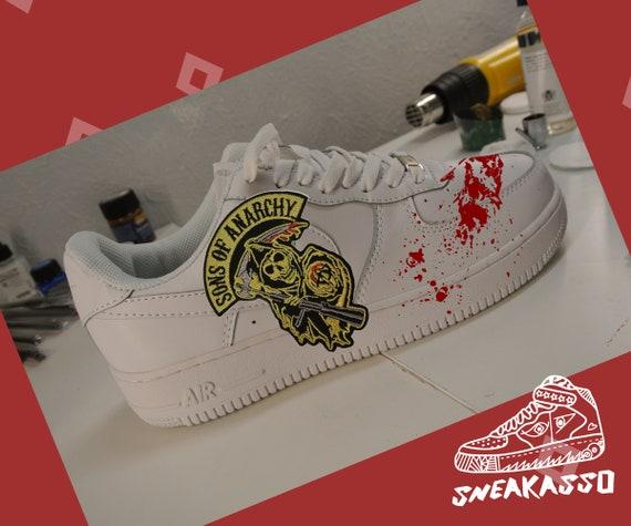 Sneakers Nike Air Force One White of Jax Teller (Charlie