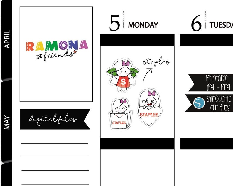 photo about Printable Stickers Staples identified as Staples stickers/Buying working day stickers/I have to have it stickers/Planner Stickers/Hand drawn/Ramona and good friends/COD554