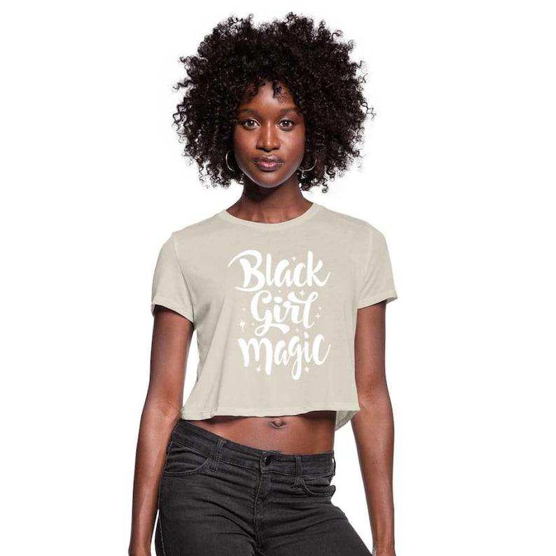 Style 2 Black Girl Magic Women/'s Crop Top